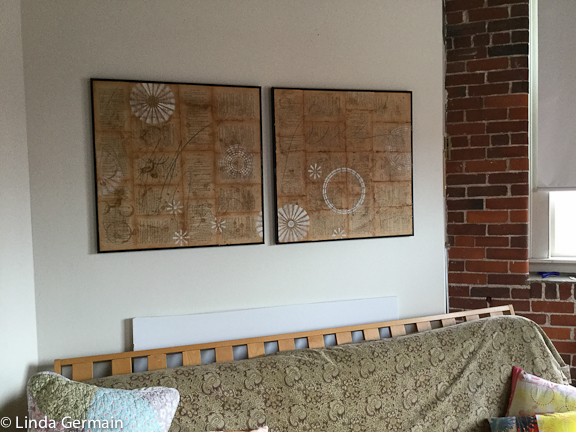 Diptych made with book pages
