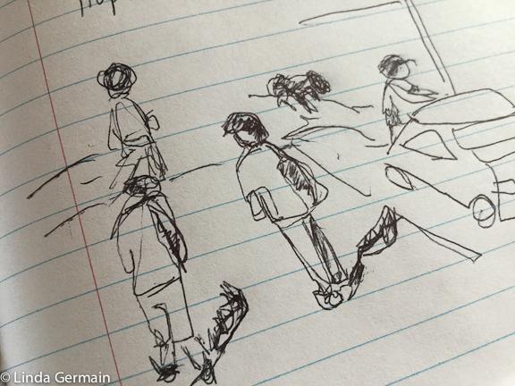 urban sketch by linda germain