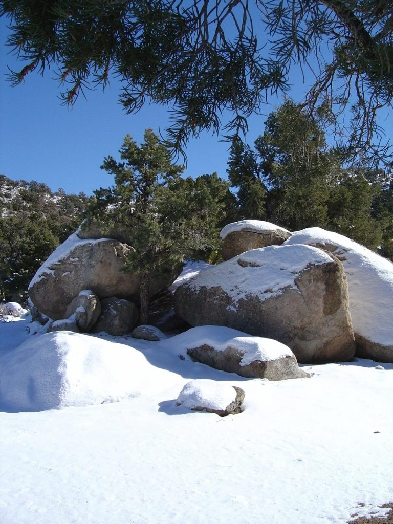 Snow Covered Rocks