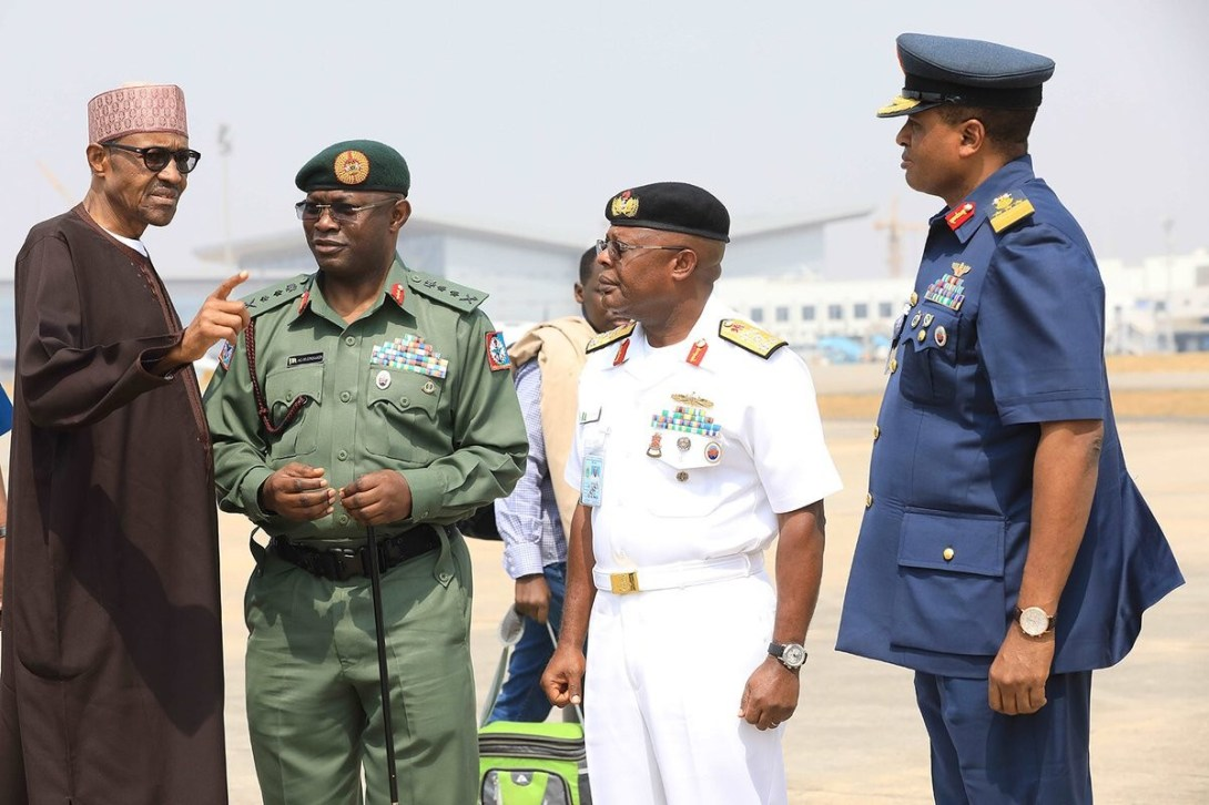 ''Be patient, my security chiefs racking their brains to stop the killings'' President Buhari appeals to Nigerians