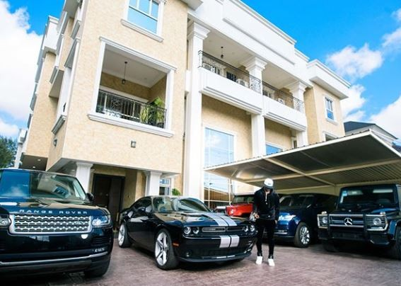 'I praythis picture motivates and inspires you, rather than making you mad or sad' - Peter Okoye says as he shares photo of his super cars