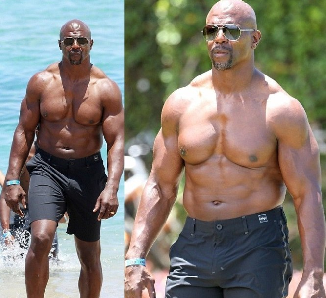 Actor Terry Crews shows off his buff body while celebrating 50th Birthday on the Beach (Photos)