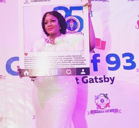 25 years after, Omotola Jalade attends her school reunion party (Photos)