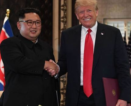 'I have asked Secretary of Statenot to go to North Korea,because we are not making progress with respect to the denuclearization' - Trump