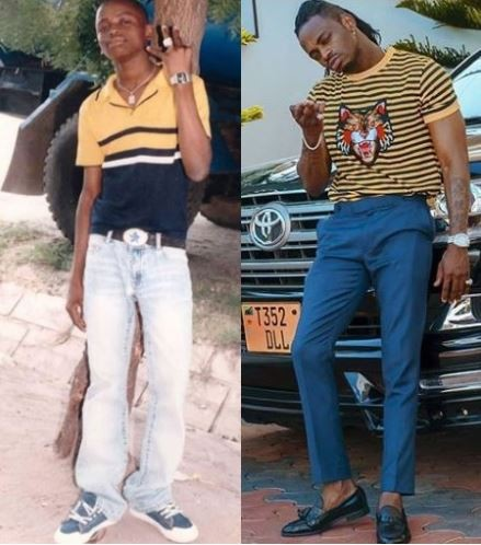 Diamond Platnumz shares epic throwback photo from 2007 when he used to work at a fuel station