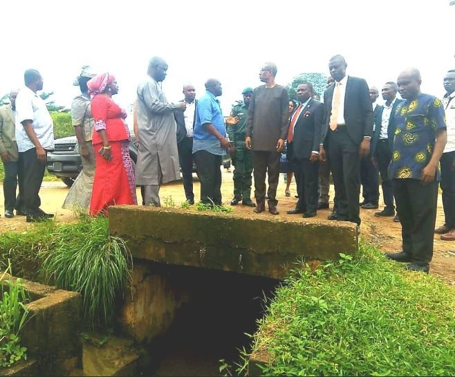 Minister of Industry, Trade and Investment, Okechukwu Enelamah commissions gutter and gully erosion project in Akwa Ibom (Photos)