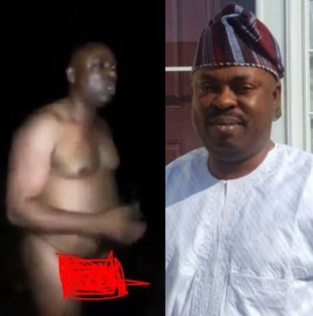 Video:Osun state House of Assembly Majority Leader,Timothy Owoeye caught bathing in the market
