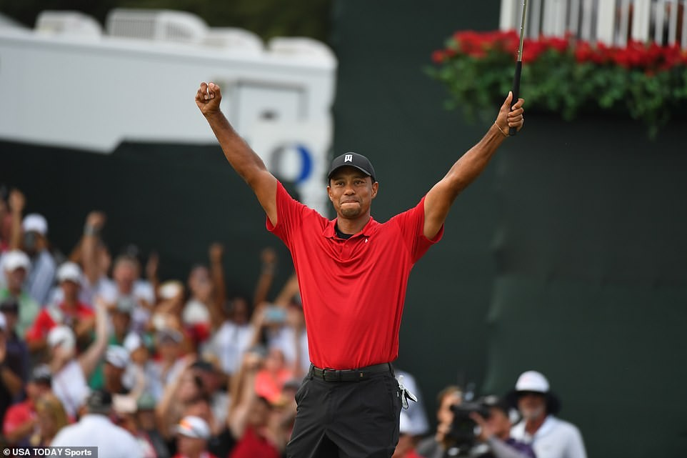 Tiger Woods wins for the first time since 2013 to claim USPGA Tour Championship