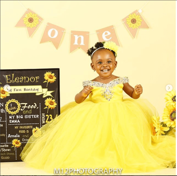 Cute new photos of Jude Okoye's daughter Eleanor as she celebrates 1st birthday