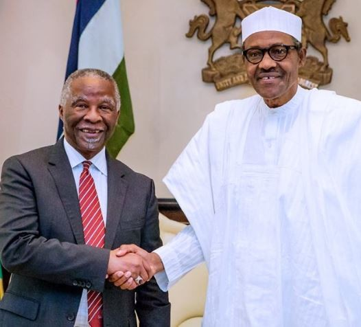 'Fighting corruption in Nigeria is a must' - President Buhari tell former South African president, Thabo Mbeki