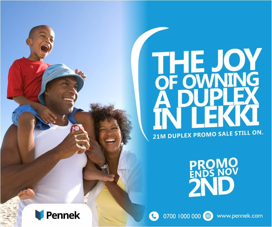 With 21m get a free plot when you buy this duplex in The Annex, Lekki