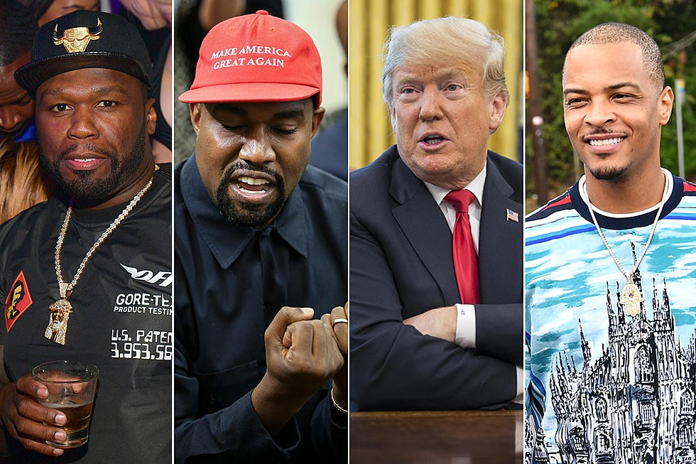 T.I, 50 Cent and more react to Kanye West's White House meeting with President Trump and it's messy