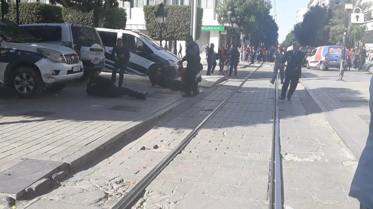 Photos Female suicide bomber blows herself up in Tunisia, 9 wounded