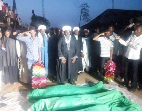 46 Shi'ia members buried following clash with Nigerian Army (Photo)