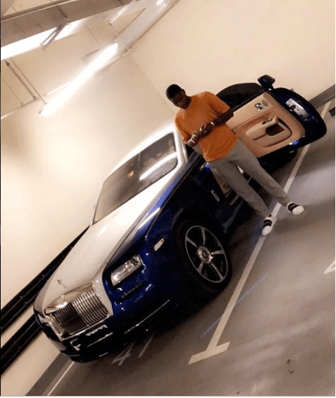 Nigerian striker Brown Ideye bought himself a 2018 Rolls Royce Wraith for his 30th birthday. (Photo)