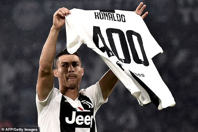 Cristiano Ronaldo honoured after scoring 400 goals across Europe (Photo)