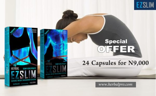 Lose more weight for less in the EZ Slim Black Friday Promo. Get the EZ Slim 24 capsule pack for just 9,000 naira