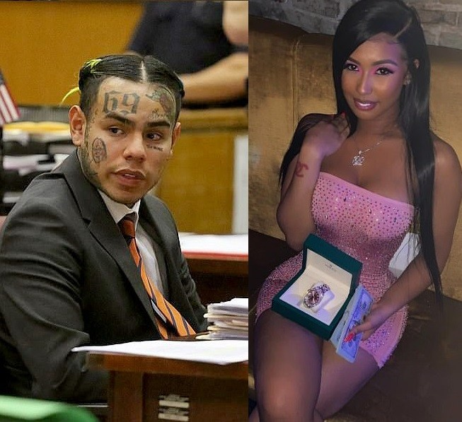 Embattled rapper Tekashi 6ix9ine sends his model girlfriend a $35,000 Rolex watch for her 22nd birthday from jail (Photos)