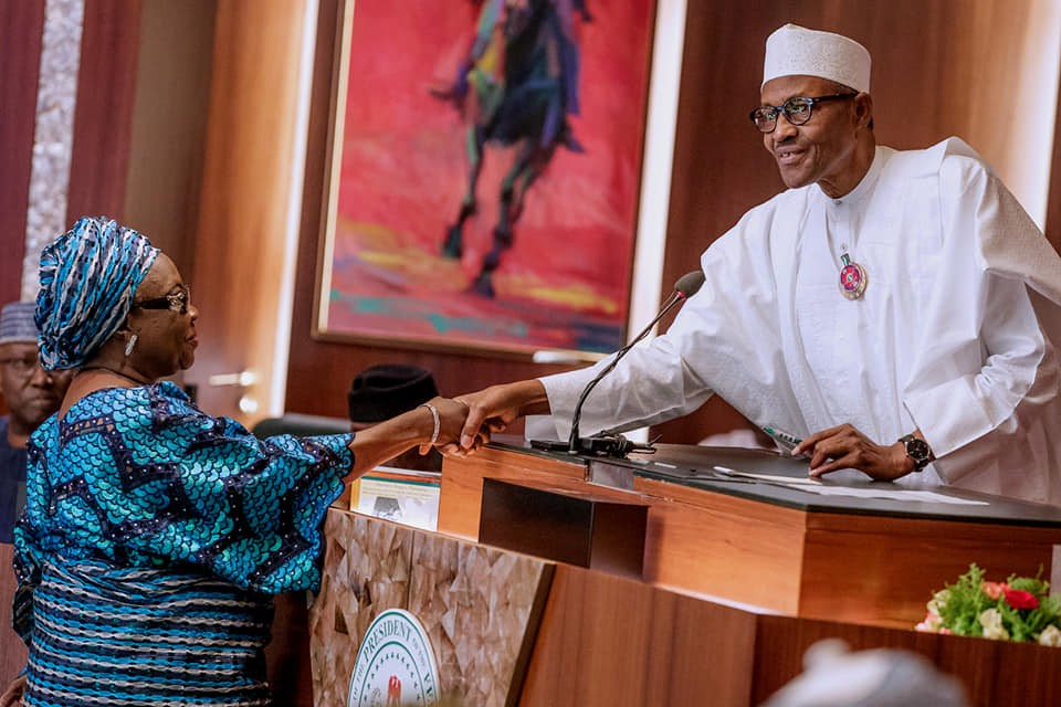 Photos:President Buhari presides over Swearing in Ceremony of the new Commissioners of Federal Civil Service Commission