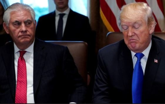 President Trump describes former secretary of state, Rex Tillerson as 'dumb' and 'lazy'