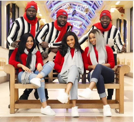 Comedian AY, his brothers and their wives release beautiful Christmas photos.