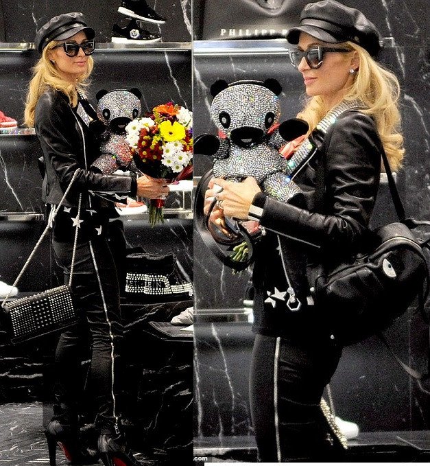 Paris Hilton steps out in style as she goes shopping in Milan (Photos)