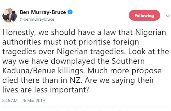 'We should have a law that Nigerian authorities must not prioritise foreign tragedies over Nigerian tragedies' - Ben Bruce