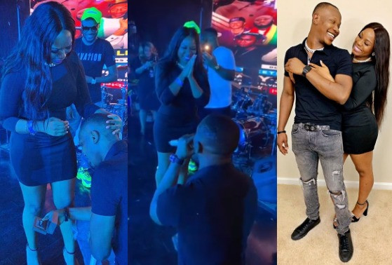 Instagram Comedian, Aphrican Ape, proposes to his girlfriend (photos)