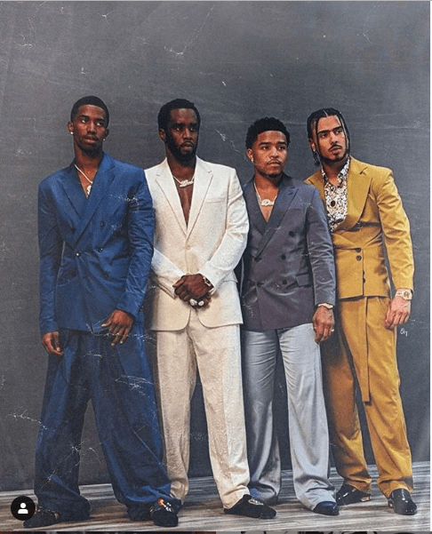 Stylish new photo of Diddy and his three sons