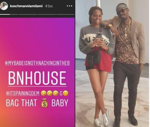 #BBNaija: My babe is not knacking in the house - Jackyes boyfriend celebrates