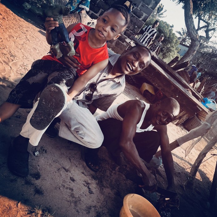 Brymo shares a rare photo of his father and his son