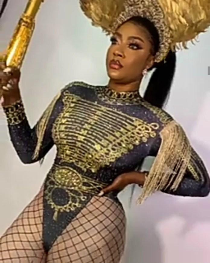 Lovely shots of Angela Okorie in a bodysuit taken to celebrate her birthday