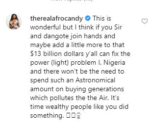 Porn star, Afrocandy tells Otedola and Dangote to solve Nigeria's power problem with their money instead of investing in refineries lindaikejisblog 1