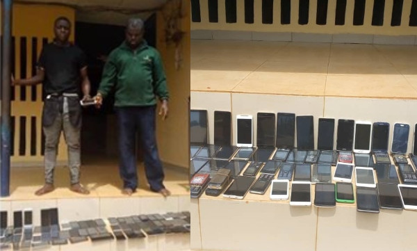 Image result for images of Car Snatchers Arrested With 150 Phones