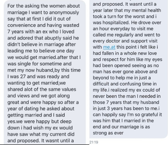 Nigerian married women share their stories after Twitter user asked if they married the love of their lives or married out of pressure