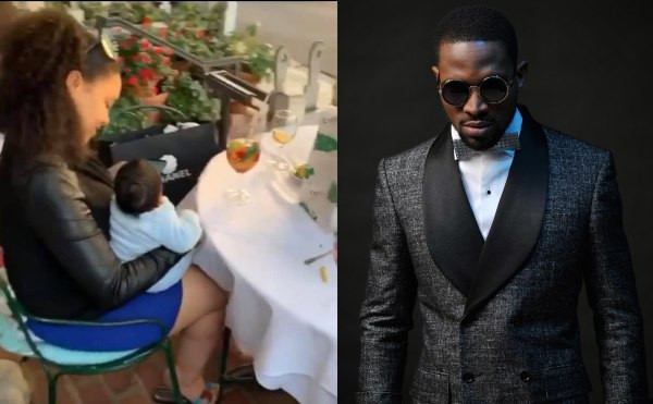 First video of D'banj's wife, Didi Lineo and their son lindaikejisblog