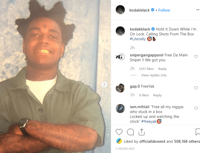 Rapper Kodak Black sentenced to 46 months in federal prison on weapon charges