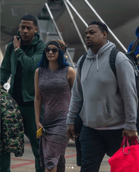 Cardi B arrives Nigeria for a show  (images)