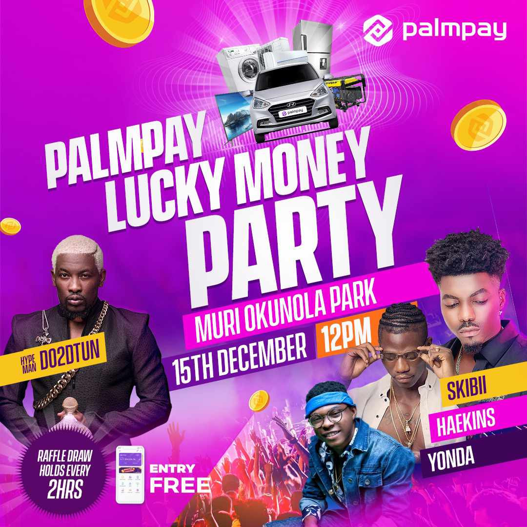One person at this free palmpay party in Lagos will walk away with a car this weekend Will it be you