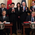 US' Donald Trump, Chinese Vice Premier finally sign 'phase one' of trade deal following 18months of trade war.