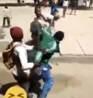 Secondary school students caught on camera beating their 'instructor' in Katsina