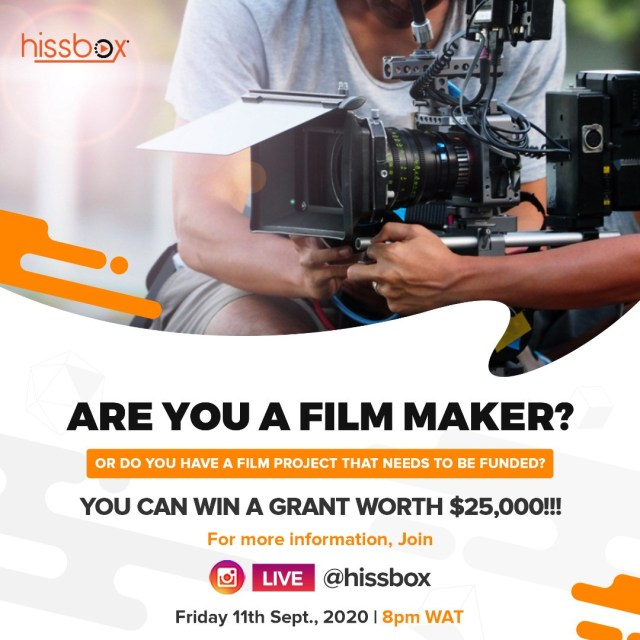 Telling Untold Stories: Streaming service Hissbox launches with a grant of $25,000 for young filmmakers lindaikejisblog2