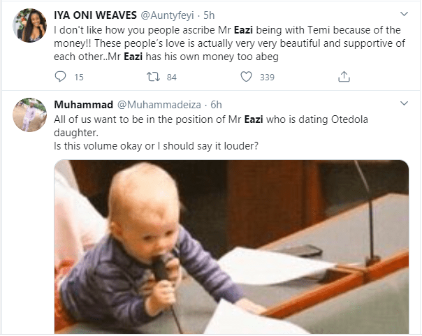 Mr Eazi trends as Nigerians hilariously react to Otedola buying Ferraris for his daughters including his girlfriend Temi lindaikejisblog 6