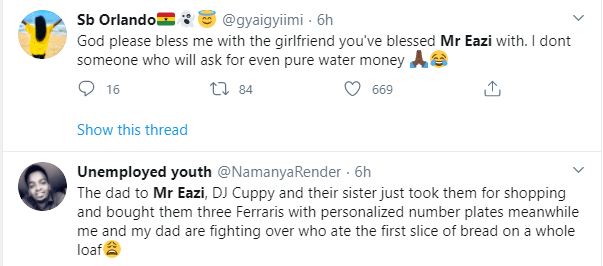Mr Eazi trends as Nigerians hilariously react to Otedola buying Ferraris for his daughters including his girlfriend Temi lindaikejisblog 7