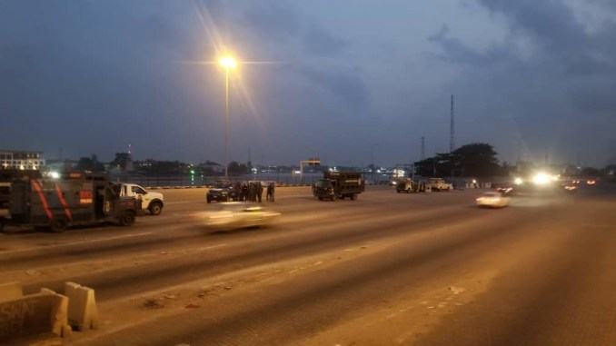 Photos from Lekki toll gate this morning
