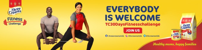 Fitness Challenge Three Crowns breaks new Everyone is Welcome Campaign lindaikejisblog