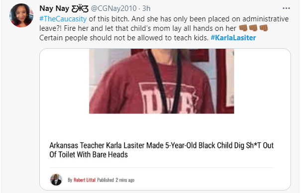White teacher accused of forcing a 5-year-old black girl to wash a toilet with her bare hands  1