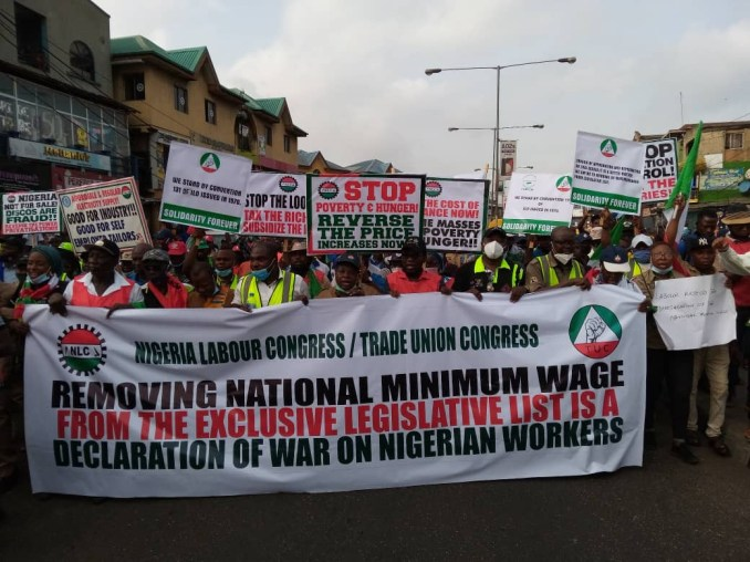 NLC members embark on nationwide protest 1