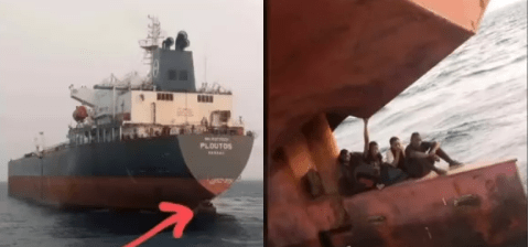 Lagos anchorage officials nab stowaways hiding at rudder of a ship heading for Spain