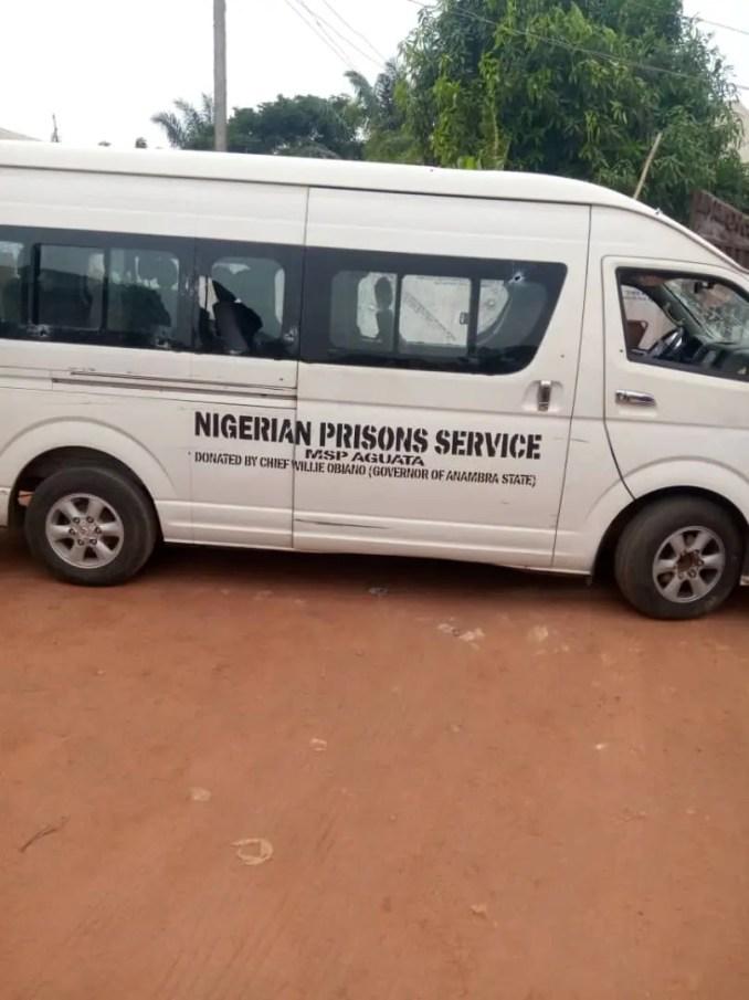 Warder shot dead as gunmen open fire on prison van in Anambra